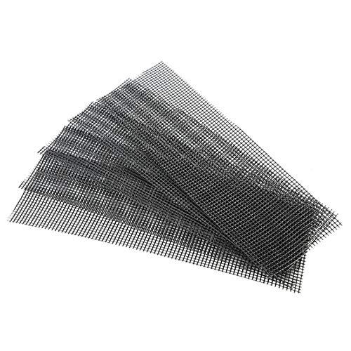 5 Stück Blumentopf Loch Matte Schwarz Kunststoff Bonsai Bottom Drainage Mesh Pad Gitter verhindern Boden Verlust Quadrat 30x10cm/30x20cm(30 * 10cm)