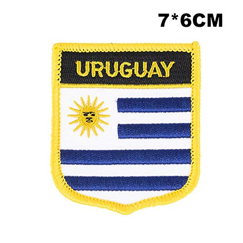 Uruguay Shield Vorm Vlag patches geborduurde vlag patches nationale vlag patches voor Cothing DIY Decoratie PT0188-S