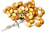 3rd Class relic Rosary Saint Charbel Sharbel Makhlouf Maronite Monk and Priest from Lebanon Prayer for Healing (Wooden)