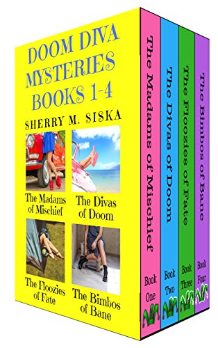 The Doom Diva Mysteries Books 1 - 4 Box Set: Four Humorous Cozy Mysteries