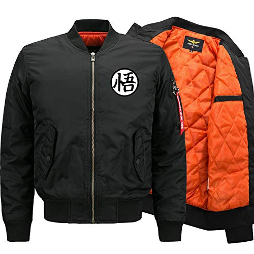 LSJSN Mannen Jassen Dragon Ball Goku Jas Herfst Winter Pilot Air Force Militaire Motorfiets Honkbal Jassen