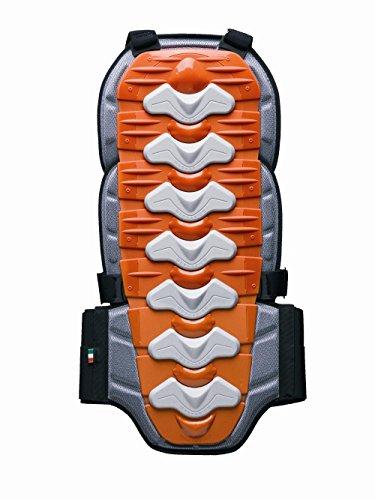 ZERO7 Protection dorsale pour motocross, Rouge/Orange, Taille XL