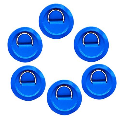 Fenteer 6 pcs de Cubiertas Anillos para Barcos Inflable Deportes Acuàticos - Azul