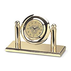 NCAA Army Black Knights Adult Arcade Desk Clock, Gold