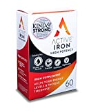 Active Iron High Potency, Non-Constipating, Iron Supplements, 25mg, 60 Capsules, Helps Strengthen...