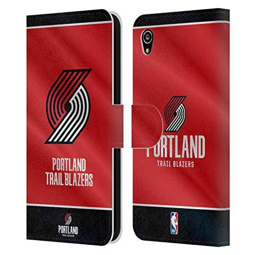 Officiële NBA Vaanjager 2019/20 Portland Trail Blazers Lederen Book Portemonnee Cover Compatibel voor Sony Xperia M4 Aqua