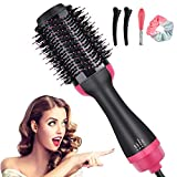 Hair Dryer Brush, Hot Air Brush, 4-in-1 Negative Ionic Hair Blow Dryer Brush for All Hair Types, Multifunctional Hot Air Styler Anti Scald Hair Dryer & Volumizer Reduce Frizz and Static for Women