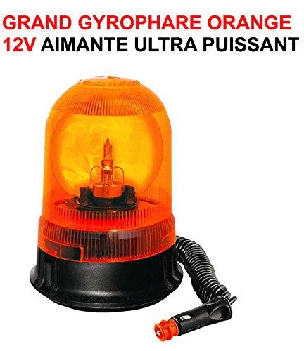 LCM2014 Hyper Puissant GYROPHARE AIMANTE 12V Orange Professionnel Special DEPANNEURS PATROUILLEURS Voiture 00 Assistance ! Raid Preparation 4X4