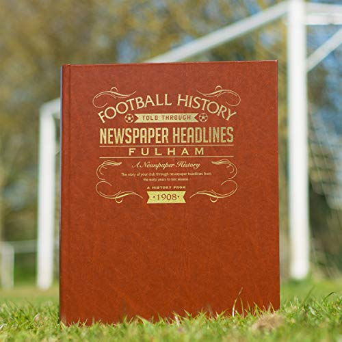 Signature gifts Premium Personalised Fulham FC Newspaper Headlines Book