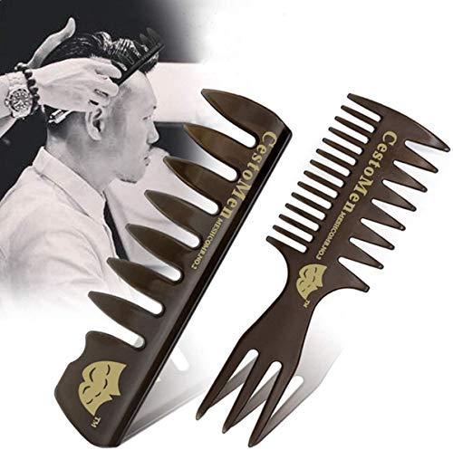 Kamm Männer Friseur Zubehör,Antistatischer Haar Kamm Friseur Zweiseitig | Styling für Männer und Frauen Kämme im 2 teiligen Friseur Kamm Set