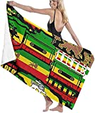 Toallas de playa para adultos, The Lion of Judah Rasta Rastafari Jamaica Reggae, toalla de playa grande, ligera, perfecta para familias, hotel, viajes, natación, fitness, 81 x 132 cm