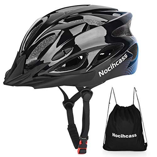 Fahrradhelm, Radfahren Fahrradhelm mit Visier für Erwachsene Herren Damen Frauen Männer, BMX Skateboard Radhelm MTB Mountainbike Helm 56-62cm(22-24.4inch) Schwarz Blau