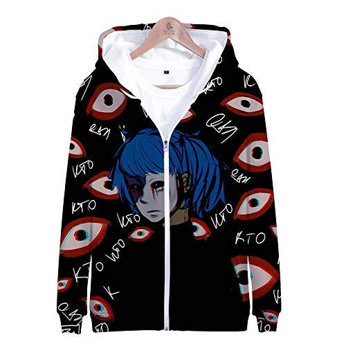 MULIZHE Kleurrijke bedrukte 3D Kerstmis hoodie lange mouwen tas dikke pullover heren en dames neutrale deco pullover A-0217 Adventure puzzel Sally Face