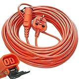 SPARES2GO 20 <span class='highlight'>Metre</span> Mains Cable & Lead Plug <span class='highlight'>for</span> <span class='highlight'>Bosch</span> Rotak Lawnmowers (20m)