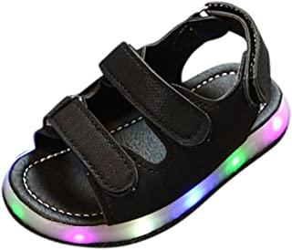 Hot Sale!Summer Sandals 2018,Todaies Toddler Kids Sport Summer Girls Baby Sandals Boys LED Luminous Shoes Sneakers (US:5.5, Black)