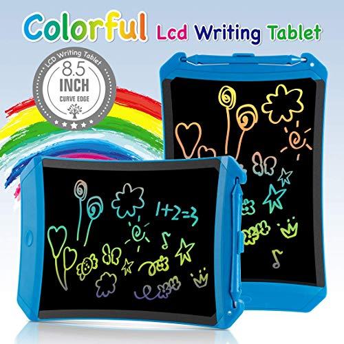 TEKFUN Tablet para niños 8.5 Pulgadas,Tableta de Escritura LCD de con Bloqueo de Pantalla borrable y función Reutilizable,Portatiles, Pizarra Luminosa niños,Juegos educativos(Blue-1)