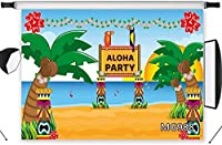HD Aloha Party Photography Backdrop Tropical Hawaii Beach Backdrop Palm Tree Photo Background 10x7ft Custom Vinyl Photo Studio Props