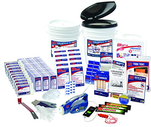 ER Emergency Ready 10 Person Ultimate Deluxe Survival Kit, SK10R