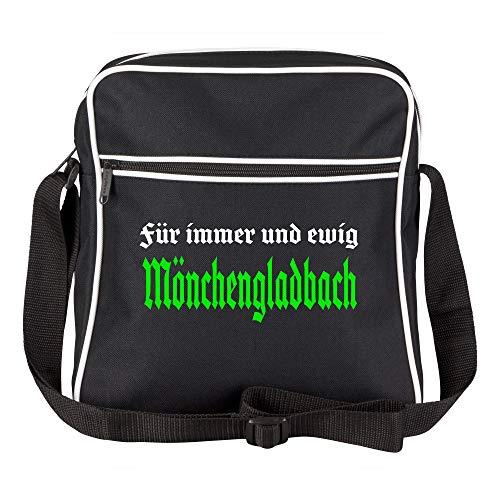 Schultertasche Für Immer und ewig Mönchengladbach schwarz - Mönchengladbach Mönchengladbacher Fußball Tasche Fanartikel