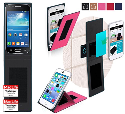 reboon Custodia per Samsung Galaxy Trend Plus | in Rosa | Cover Case Caso Multifunzionale