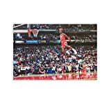 DFGGG Porter with Michael Jordan Slam Dunk Poster Poster Decorative Painting Canvas Wall Art Living Room Posters Bedroom Painting 20x30inch(50x75cm)