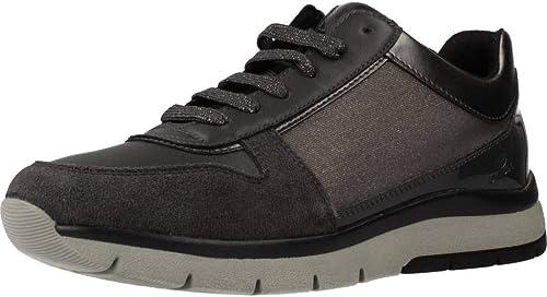 Geox Chaussures Femme D CALLYN D en Cuir gris D849GD-0EWBC-C1G9A