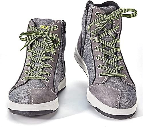 HaoLin Calzado de Moto, Zapatos para Montar en Moto, Equipo de Protección de Verano para Hombres, Calzado de Ciclismo Calzado Deportivo de Trekking,A-44 EU