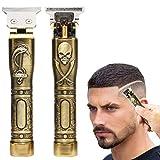 J TOHLO Elektrischer Haarschneider Akku-Haarschneider Wasserdichte T-Klingen-Haarschneidemaschine mit 3 Führungskämmen für Männer Haarbart
