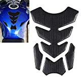 TOMALL 3D Gas Tank Protector for Motorcycle Tank Pad Decal Soft Rubber Tank Pad Protector Sticker Anti Slip Waterproof Sticker Motorcycle Sticker Modified Decoration (Black)