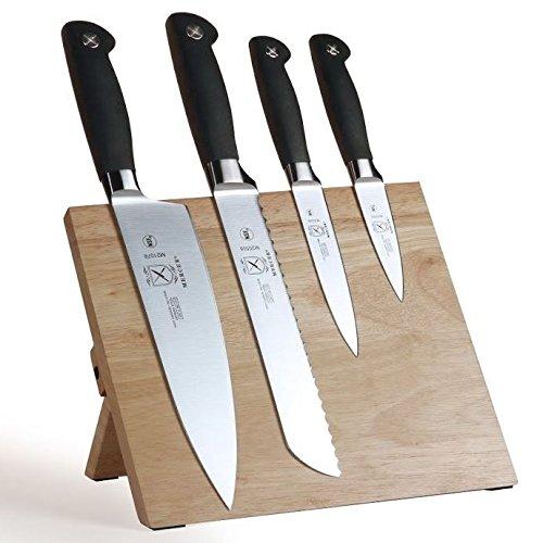 Mercer Culinary Genesis 5-Piece Magnetic Board Set, Rubberwood