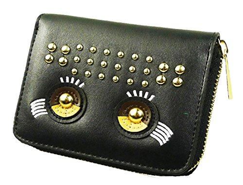 kukubird The Eyes Purse Prom Party Clutch Bag Wallet - Black