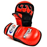 Fairtex FGV15 FGV15 MMA Sparring Gloves (Red, Medium)