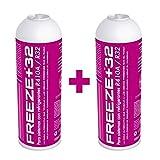 REPORSHOP - 2 Botellas Gas Refrigerante Freeze +32...