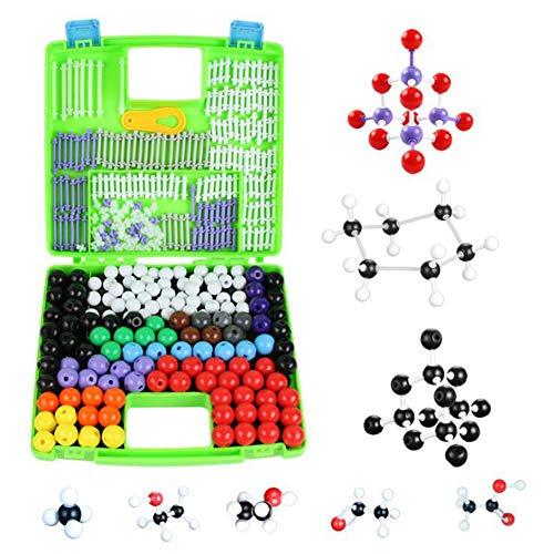 BIUYYY Molekülbaukasten Chemie: Profi-Set in Sortierbox Mit 332 Teilen Organische Chemie Lehrer Student Set Molecular Model Set