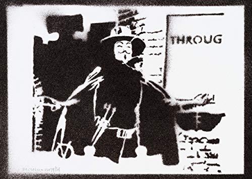 Poster V de Vendetta Grafiti Hecho a Mano - Handmade Street