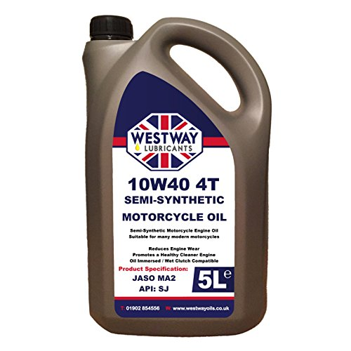 10w40 Motorcycle Oil Semi-Synthetic 5L 5 Litres