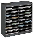 Safco Products E-Z Stor Literature Organizer, 36 Compartment, 9221BLR, Black Powder Coat F...