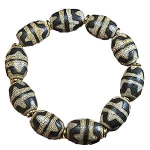 ZHIBO Natürliche Dzi Perlen Armband Kollektion