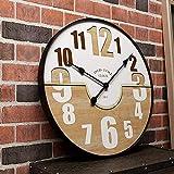 Reloj de Pared Decorativo 2020 Reloj de Pared de Madera rústico Vintage Grande Cocina Antiguo Shabby Chic Retro Home, A, 20 Pulgadas