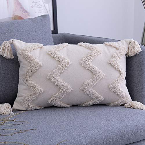 DALADA Boho - Funda de cojín cuadrada para sofá, dormitorio, sala de estar, coche, oficina