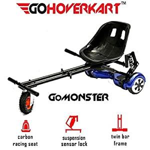 Cruiser Bikes GoHoverkart The Official Suspension Monster – Carbon Black [tag]