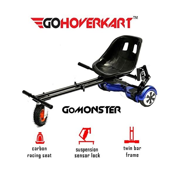 Cruiser Bikes GoHoverkart The Official Suspension Monster – Carbon Black