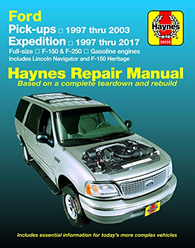 Ford Pickups,Expedition,Lincoln Nav 2WD&4WD Gas F-150 (97-03),F-150 Heritage (04),F-250 (97-99),Expedition (97-17),Navigator (98-17) Haynes Repair Manual (No diesel,F-250HD,F-350,supercharged)