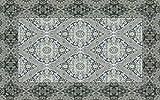 Vilber New Classic Damasco Alfombra, Vinilo, Gris, 75x120x0.2cm