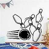 sticker mural Bowling Ball Nom personnalisé pour enfants Salon Stickers bébé Accueil Docoration