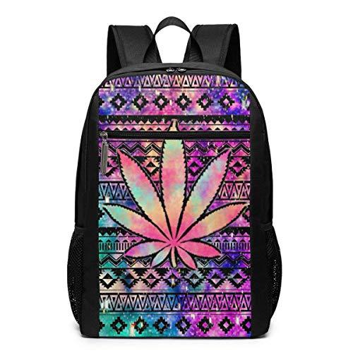 Aztec Tie Dye Weed Unisex Multiuso Borsa a Tracolla Zaini Scuola Libreria Casual Daypack Laptop Bag...