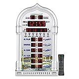 AL-HARAMEEN Azan Clock,Led Prayer Clock ,Wall Clock,Read Home/Office/Mosque Digital Azan Clock/Decorative Clock HA-4008 (Gray)