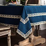 ARTABLE Lace Round Rectangle Blue Fabric...