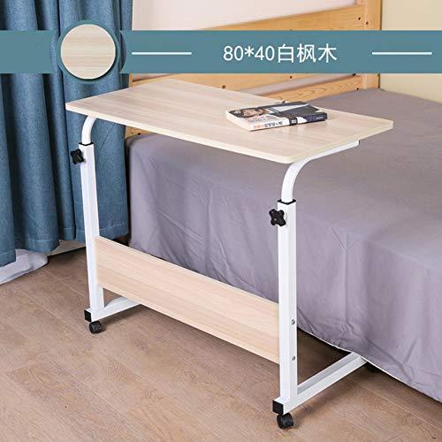 Nachtkastje LKU Slaapzaal beweegbaar bed computer bureau bed eenvoudige klaptafel luie nachtkastje met wielen, donkergrijs