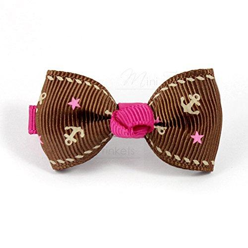Mini Trinkets Pince croco avec nœud pour enfant
